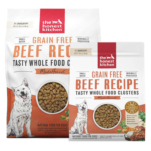 Honest Kitchen Whole Food Clusters GF Beef