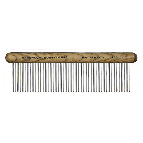 Aaronco Mattaway Wood Handle Comfort Coarse Comb #800