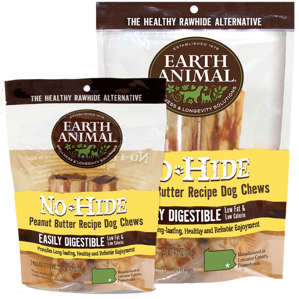 Earth Animal No Hide Peanut Butter Chew 2 Pack
