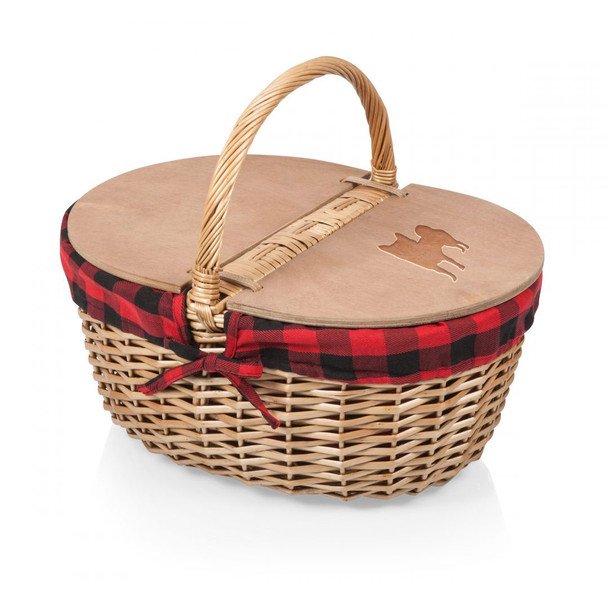 Cherrybrook Laser-Engraved Country Picnic Basket
