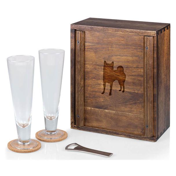Cherrybrook Laser-Engraved Legacy Pilsner Beer Gift Set