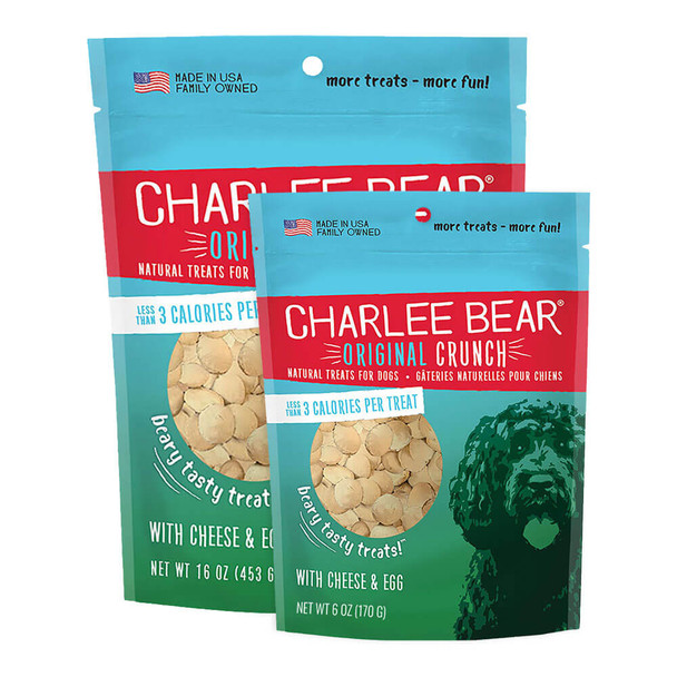 Charlee Bear Original Crunch Treats - Cheese & Egg