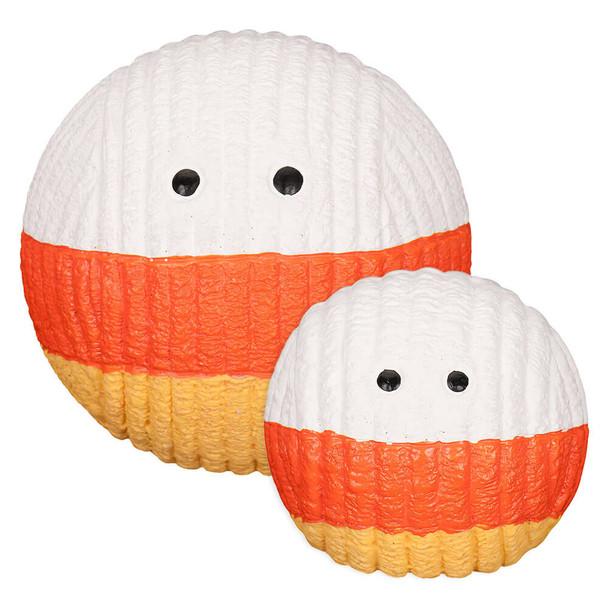 Huggle Hounds Candy Corn Ruff-Tex Ball