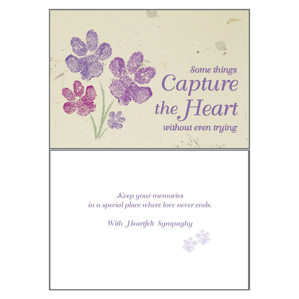 Dog Speak Sympathy Card - Some Things Capture the Heart