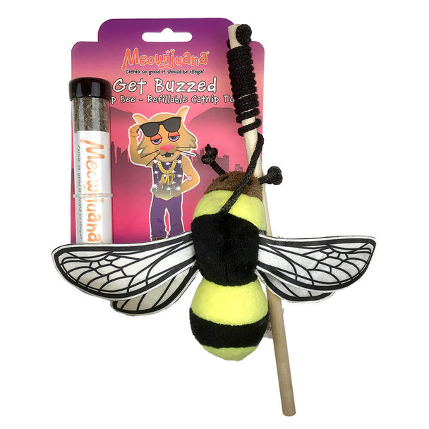 Meowijuana Get Buzzed Bee Refillable Catnip Toy