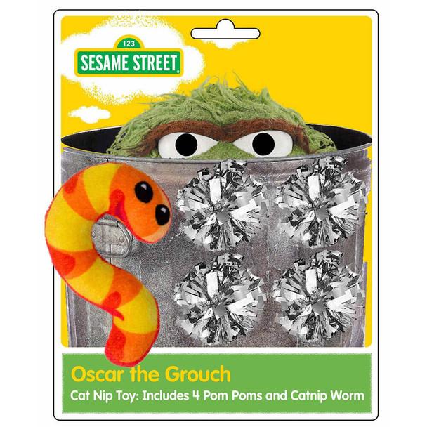 Pet Krewe Sesame Street Oscar the Grouch Cat Toy
