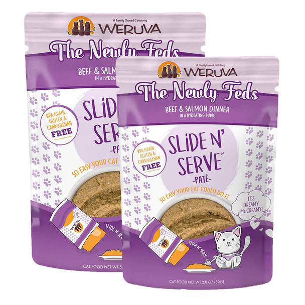 Weruva Slide N' Serve Pate Pouch 12-Pack - The Newly Feds
