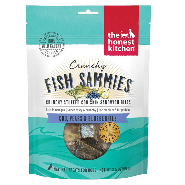 Honest Kitchen Crunchy Fish Sammies with Cod Pears & Blueberries