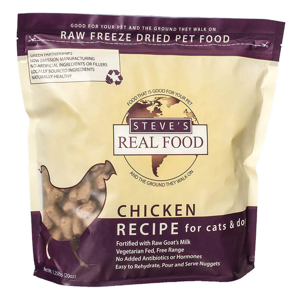 Steves Real Food Freeze Dried Nuggets 1.25oz - Chicken