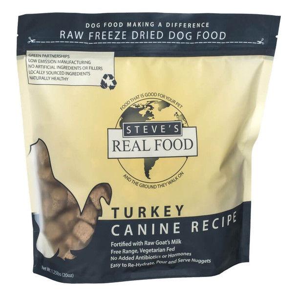 Steves Real Food Freeze Dried Nuggets Turkey