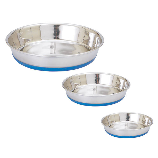 IndiPets Heavy Weight Shallow Dish with Silicone Base