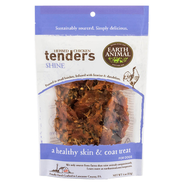 Earth Animal Herbed Chicken Tenders Shine Formula