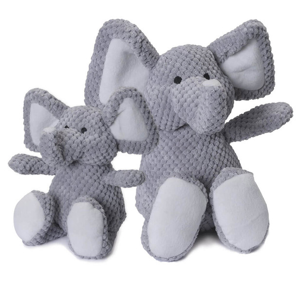Go Dog Checkered Elephant Plush Toy with Chew Guard