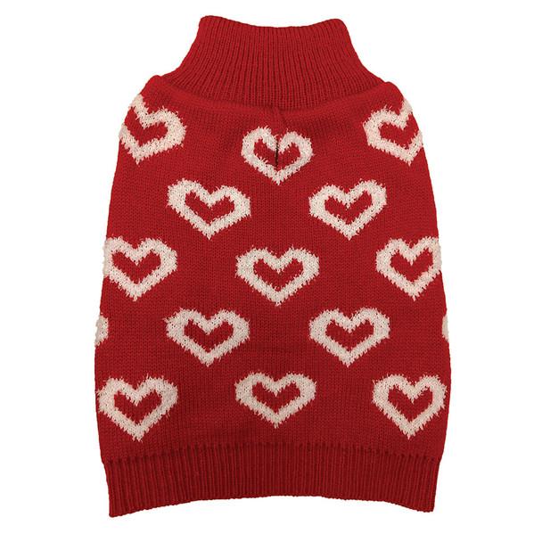Fashion Pet Allover Hearts Dog Sweater