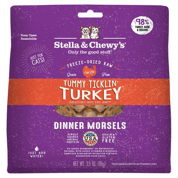 Stella and Chewy's Freeze Dried Tummy Ticklin Turkey Cat Dinner