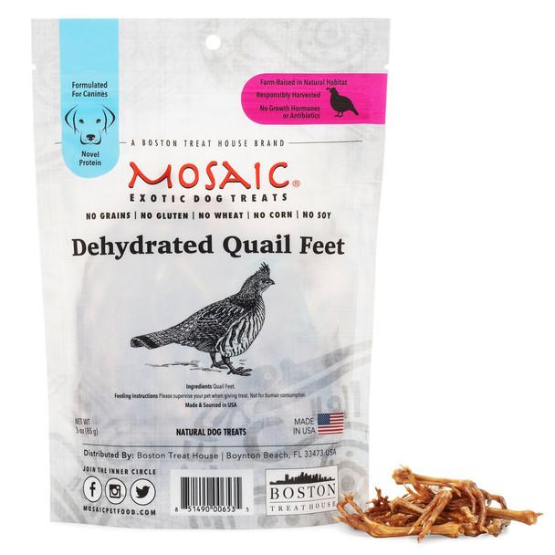 Mosaic Dehydrated USA Quail Feet Dog Treats - 3oz