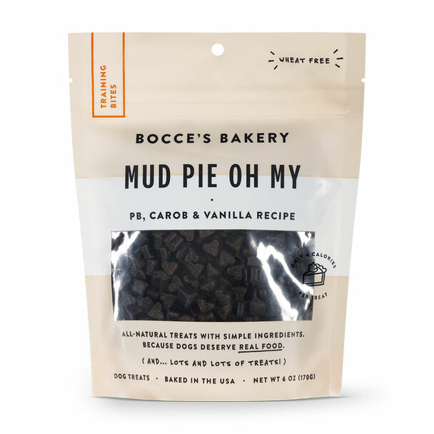 Bocce's Bakery Mud Pie Oh My Training Bites Dog Treats 6oz