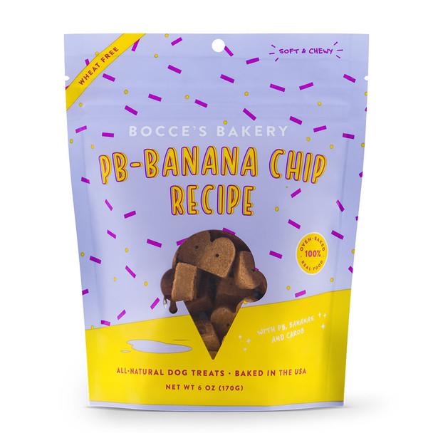 Bocce's Bakery Scoop Shop PB-Banana Chip Soft & Chewy Dog Treats 6oz