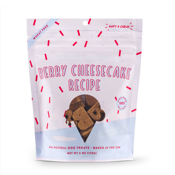 Bocce's Bakery Scoop Shop Berry Cheesecake Soft & Chewy Dog Treats 6oz