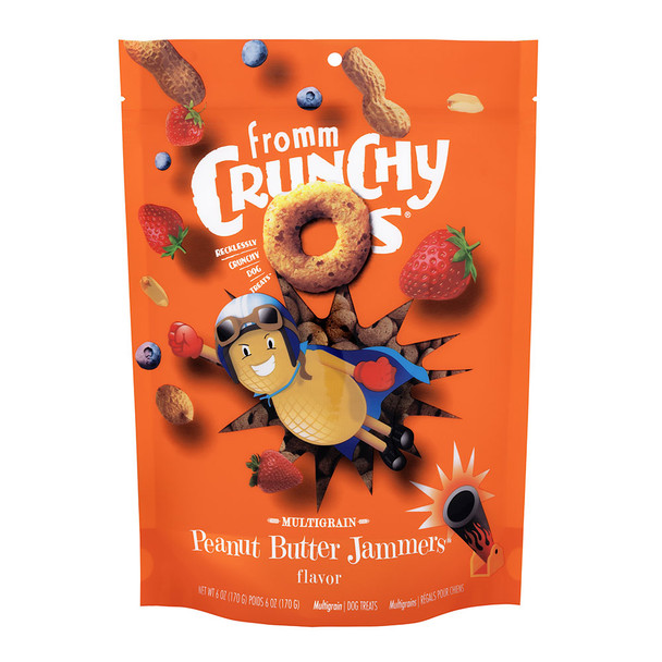 Fromm Crunchy O's Peanut Butter Jammers Dog Treats 6oz