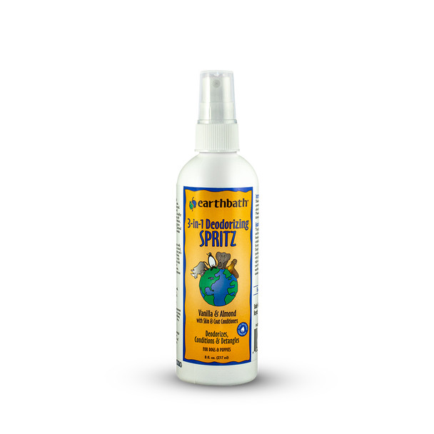 earthbath® 3-in-1 Vanilla Almond Deodorizing Spritz Made in USA 8 oz
