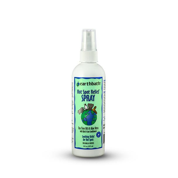 earthbath® Tea Tree Oil & Aloe Vera Hot Spot Relief Spray Made in USA 8 oz