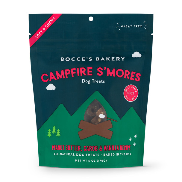 Bocce's Bakery By the Fire Campfire S'more's Soft and Chewy Dog Treats - 6oz