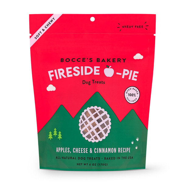 Bocce's Bakery By The Fire Fireside Apple Pie Soft and Chewy Dog Treats - 6oz