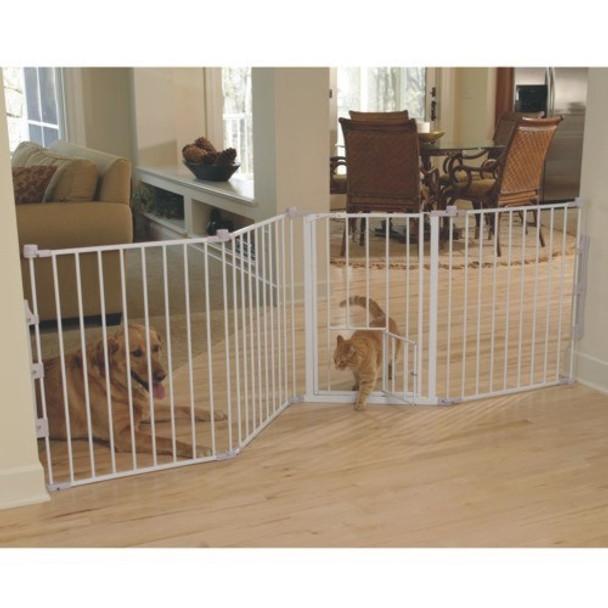 Flexi Walk Thru Gate with Pet Door
