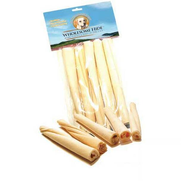 Wholesome Hide USA Premium Rawhide 5 inch Twists 10 pack