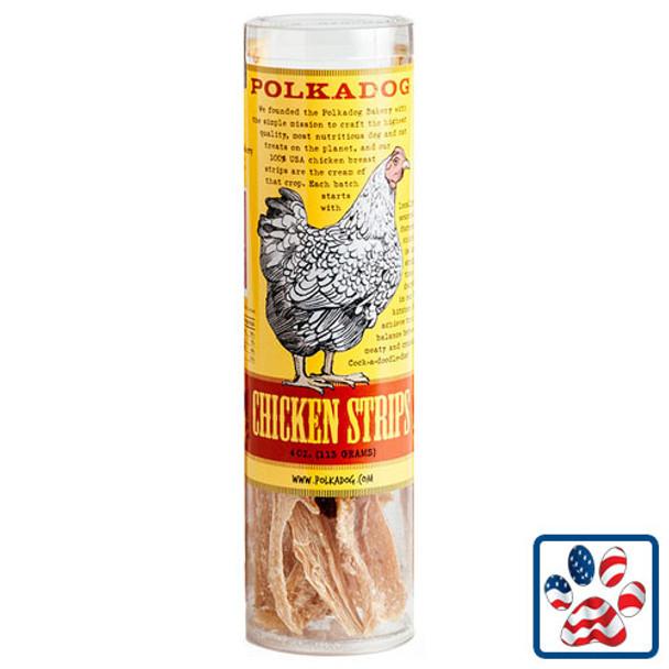 Polka Dog Chicken Strips 4oz