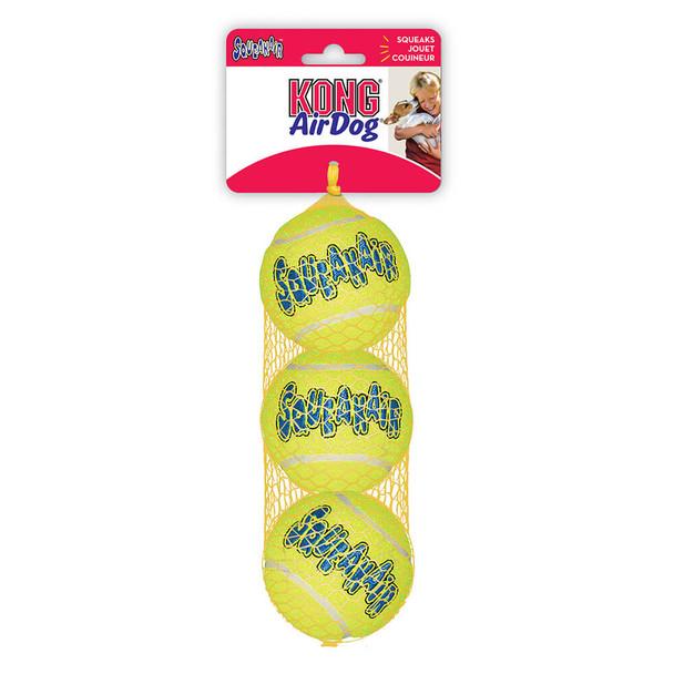 KONG AirDog SqueakAir Tennis Balls, 3pack