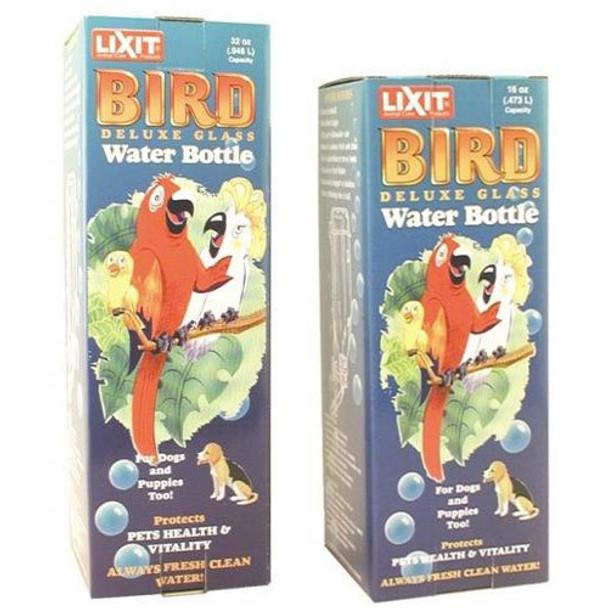 Lixit Glass Water Bottle