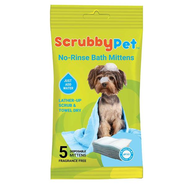 Scrubby Pet No Rinse Bath Mittens