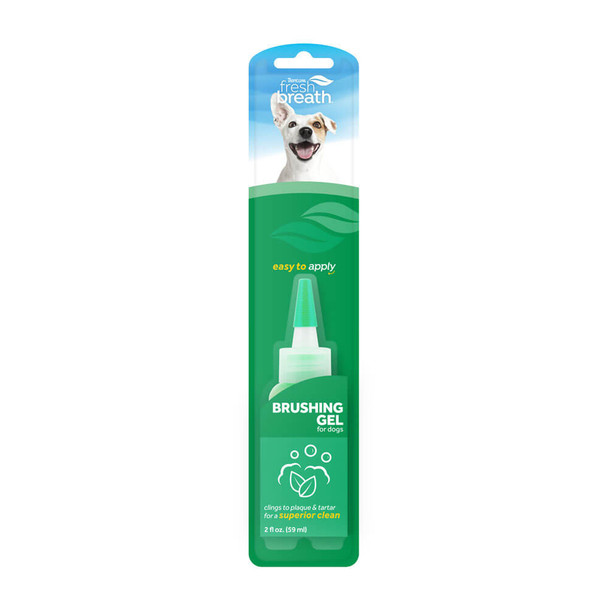 TropiClean Fresh Breath Dental & Oral Care Brushing Gel for Pets