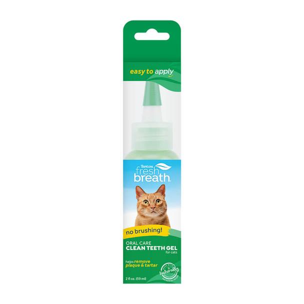 TropiClean Fresh Breath No Brushing Clean Teeth Dental & Oral Care Gel for Cats