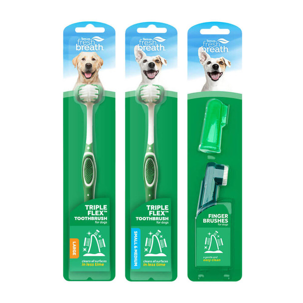 TropiClean Fresh Breath Toothbrushes for Dogs