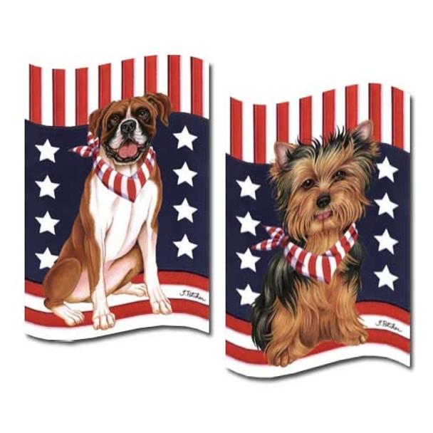 Patriotic Breed Garden Flags