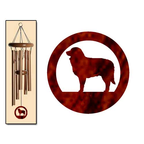 Estrela Mt Dog Wind Chimes SMALL Bronze
