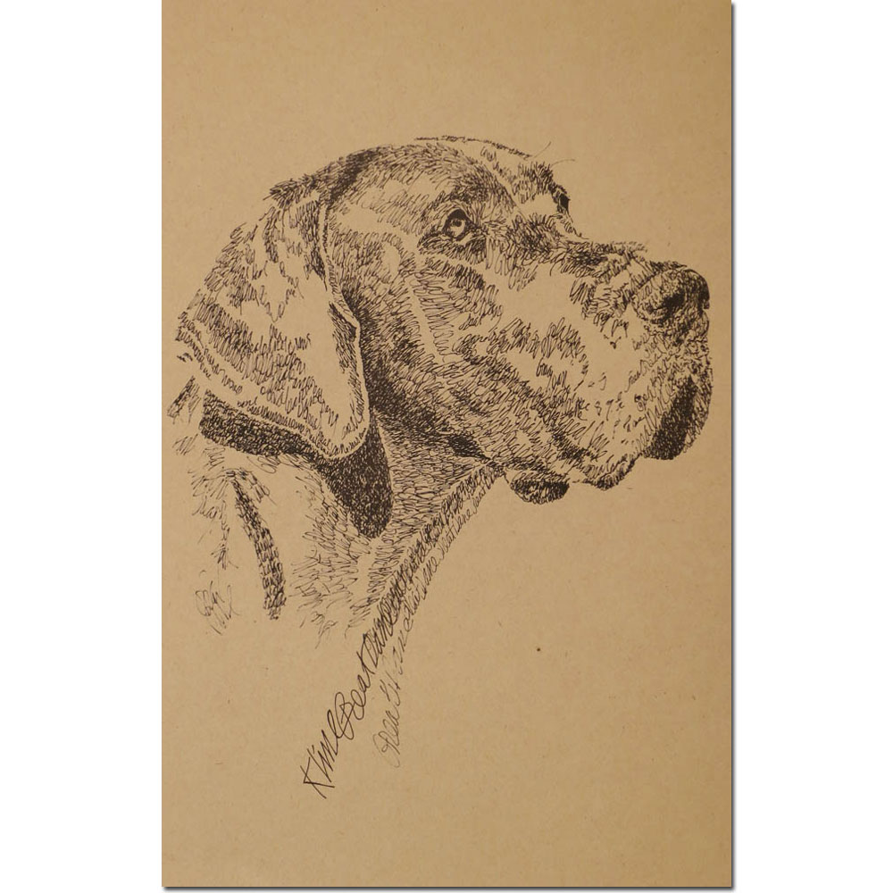 Great Dane Lithograph by Stephen Kline
