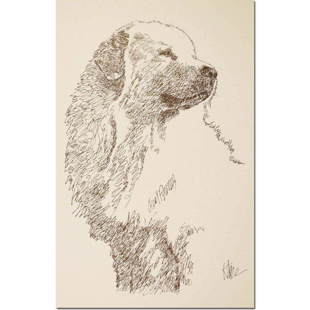 Great Pyrenees Lithograph by Stephen Kline