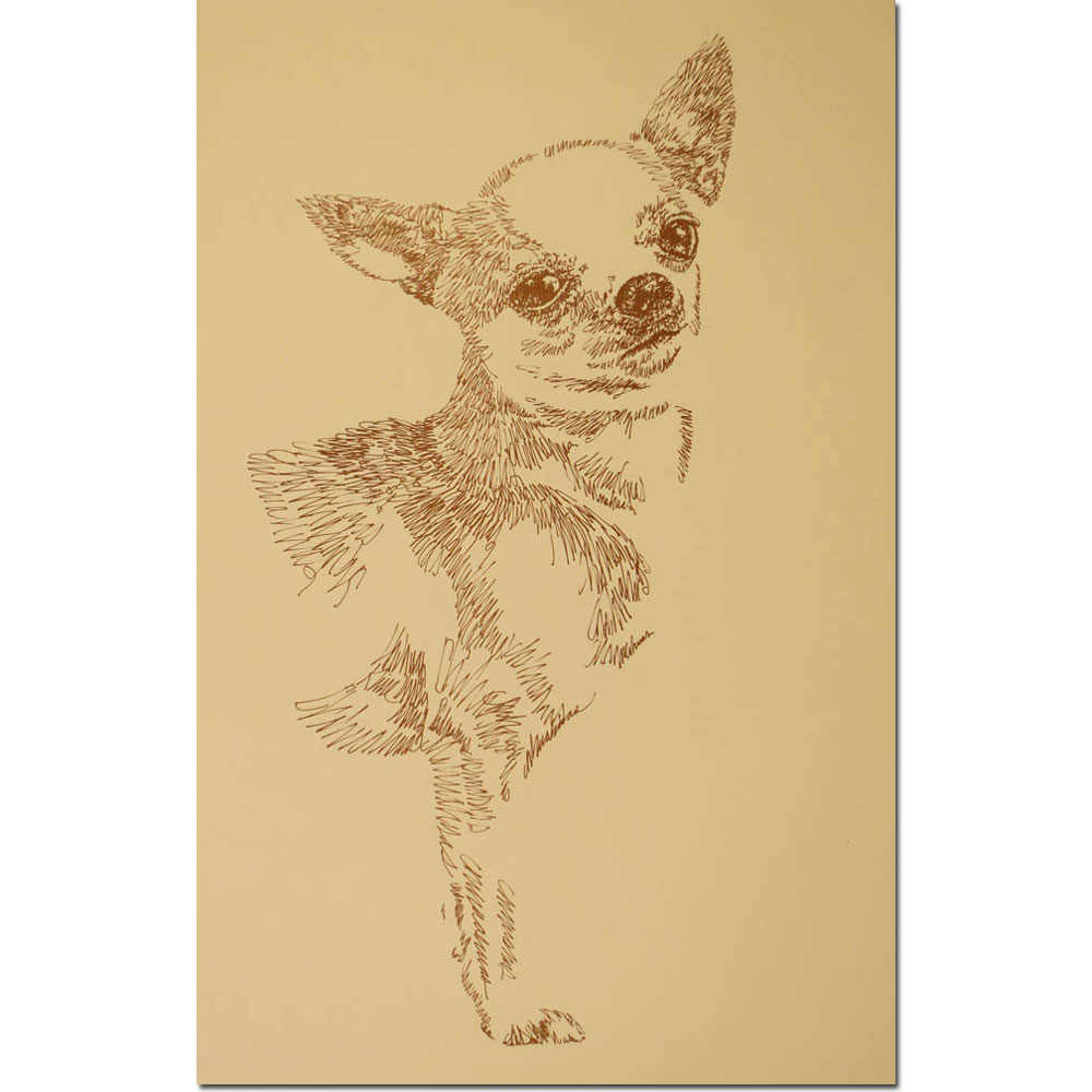 Chihuahua Personalized Lithograph by Stephen Kline