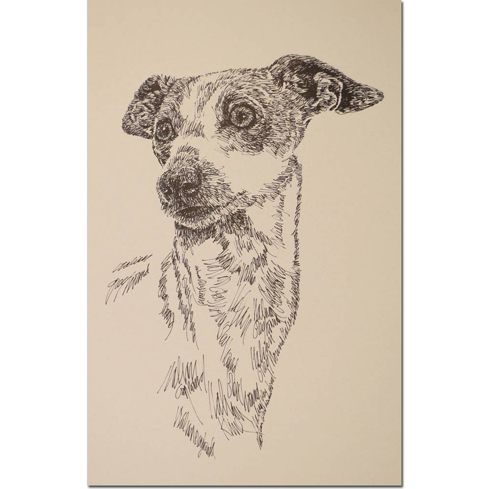 Italian Greyhound Personalized Lithograph by Stephen Kline