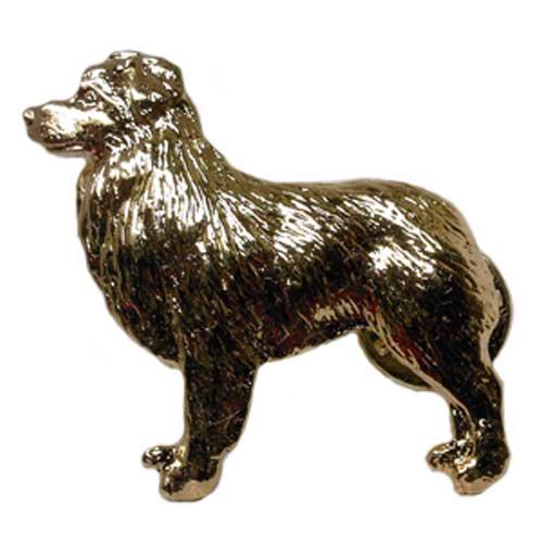 SDISC Australian Shepherd Pin 24K Gold Plated