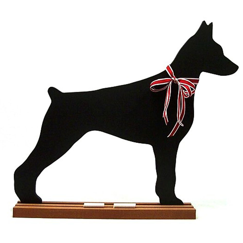 Doberman Pinscher BLACKBOARD - Wall Model