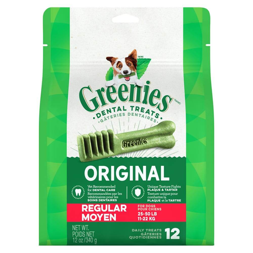 Greenies Dental Chew, Regular 12oz bag (12pk)