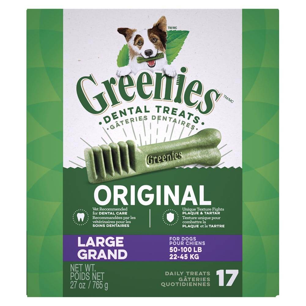 Greenies Treat Pack 27oz, Large for dogs 50-100lbs