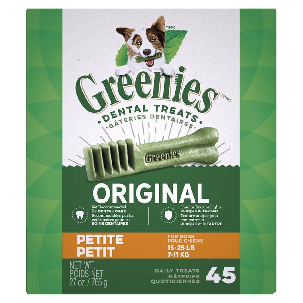 Greenies Treat Pack 27oz, Petite (for dogs 15-25lbs)