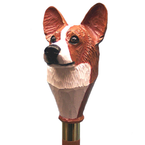RED Pembroke Welsh Corgi Walking Stick by Michael Park