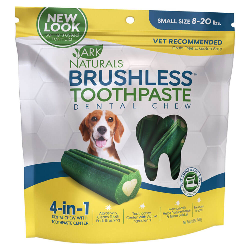 Ark Naturals Brushless Toothpaste Dental Chew Small 4oz